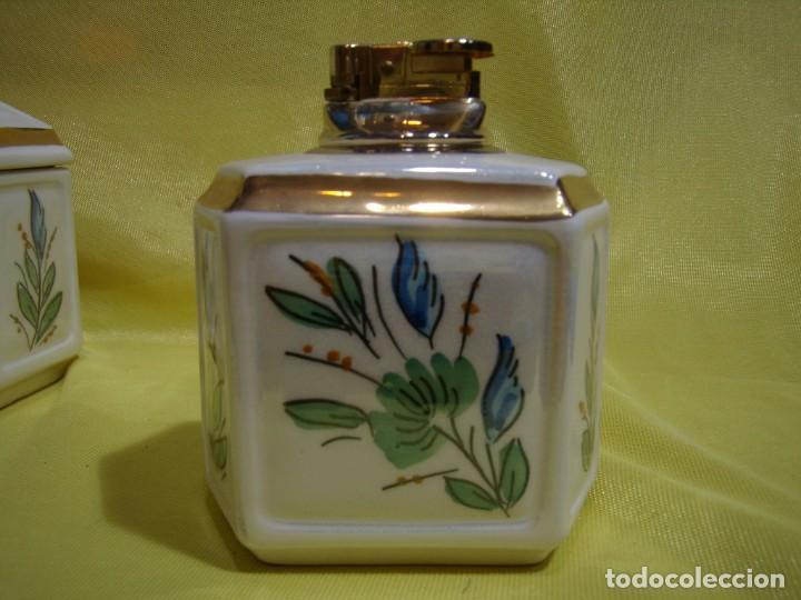 Coleccionismo: Juego fumador cerámica, pintado a mano, años 80, Nuevo sin usar. - Foto 10 - 247495355