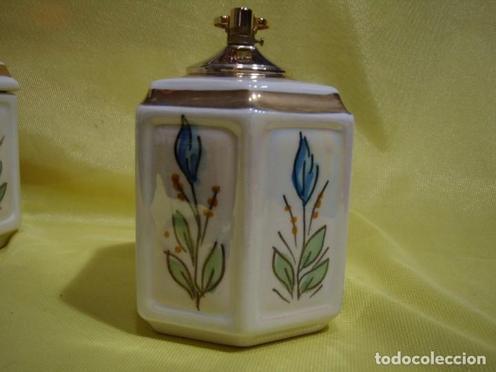 Coleccionismo: Juego fumador cerámica, pintado a mano, años 80, Nuevo sin usar. - Foto 11 - 247495355