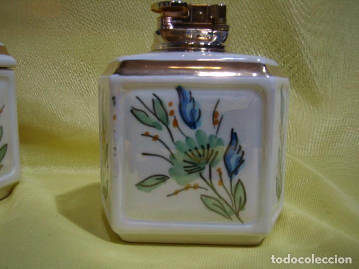 Coleccionismo: Juego fumador cerámica, pintado a mano, años 80, Nuevo sin usar. - Foto 12 - 247495355