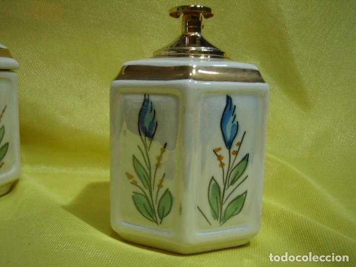 Coleccionismo: Juego fumador cerámica, pintado a mano, años 80, Nuevo sin usar. - Foto 13 - 247495355