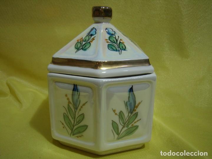 Coleccionismo: Juego fumador cerámica, pintado a mano, años 80, Nuevo sin usar. - Foto 15 - 247495355