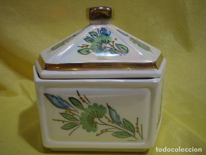 Coleccionismo: Juego fumador cerámica, pintado a mano, años 80, Nuevo sin usar. - Foto 16 - 247495355