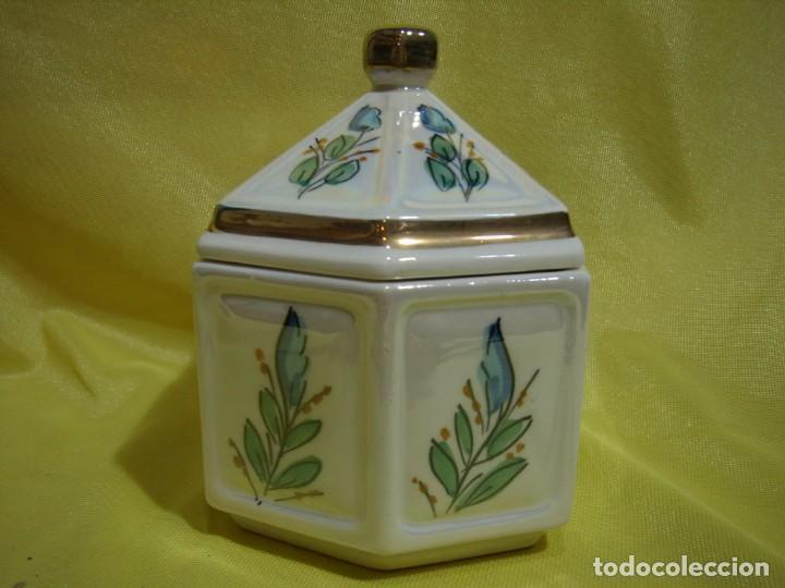 Coleccionismo: Juego fumador cerámica, pintado a mano, años 80, Nuevo sin usar. - Foto 17 - 247495355