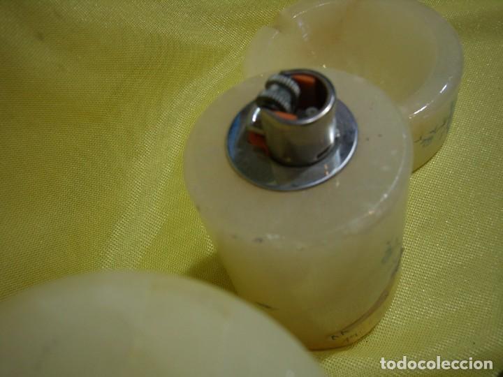 Coleccionismo: Juego fumador alabastro, años 70, Nuevo sin usar. - Foto 5 - 247496555