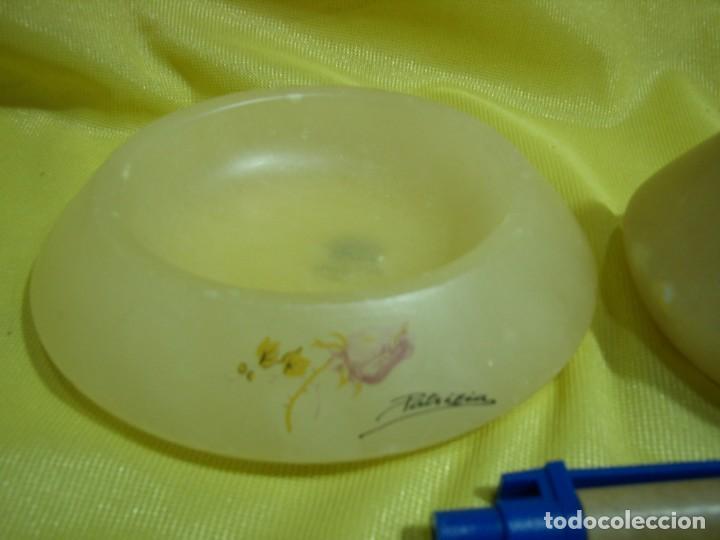 Coleccionismo: Juego fumador alabastro, de alabastros San José, años 70, Nuevo sin usar. - Foto 2 - 247497095