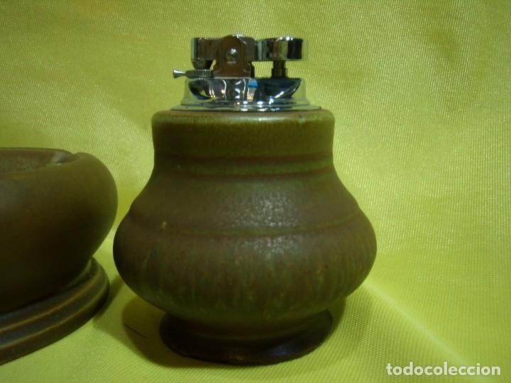 Coleccionismo: Juego fumador cerámica marrón, años 80, Nuevo sin usar. - Foto 4 - 247497795