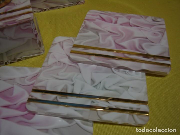 Coleccionismo: Juego fumador metraquilato rosa, con 6 posavasos, años 80, Nuevo sin usar. - Foto 10 - 247498905