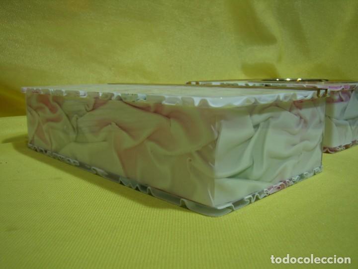 Coleccionismo: Juego fumador metraquilato rosa, con 6 posavasos, años 80, Nuevo sin usar. - Foto 17 - 247498905