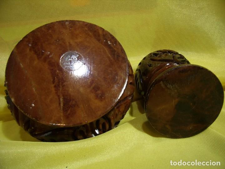 Coleccionismo: Juego fumador alabastro marrón de alabastros San José, años 70, Nuevo sin usar. - Foto 8 - 247499820