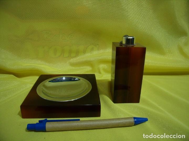 JUEGO FUMADOR METRAQUILATO MARRÓN, AÑOS 80, NUEVO SIN USAR. (Coleccionismo - Objetos para Fumar - Otros)