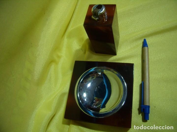 Coleccionismo: Juego fumador metraquilato marrón, años 80, Nuevo sin usar. - Foto 4 - 247500315