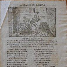 Coleccionismo: NUEVO ROMANCE DE LOS ASESINOS DEL LABRADOR DE LUCENA ... ROMANCES, CAÑA Y CORDEL. BARCELONA. Lote 247657845