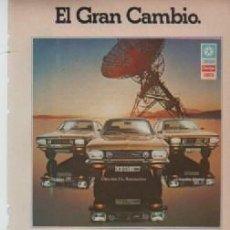 Coleccionismo: ANUNCIO PUBLICIDAD AUTOMOVILES CHRYSLER. Lote 247659035