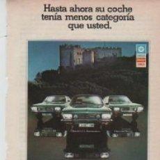 Coleccionismo: ANUNCIO PUBLICIDAD AUTOMOVILES CHRYSLER. Lote 247659970