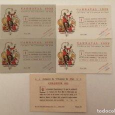 Coleccionismo: COLONIA VILASSAR INVITACIÓN CARNAVAL HOTEL RITZ 1932, (SENYOR Y DAMA). Lote 248229160