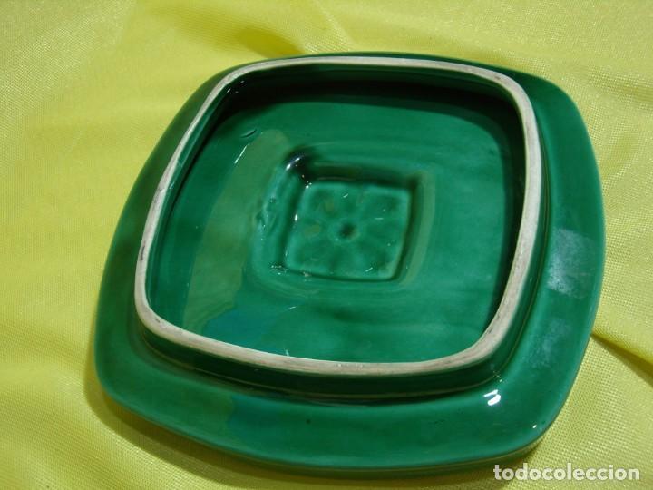 Coleccionismo: Juego fumador cerámica verde, años 70, Nuevo sin usar. - Foto 8 - 248265940