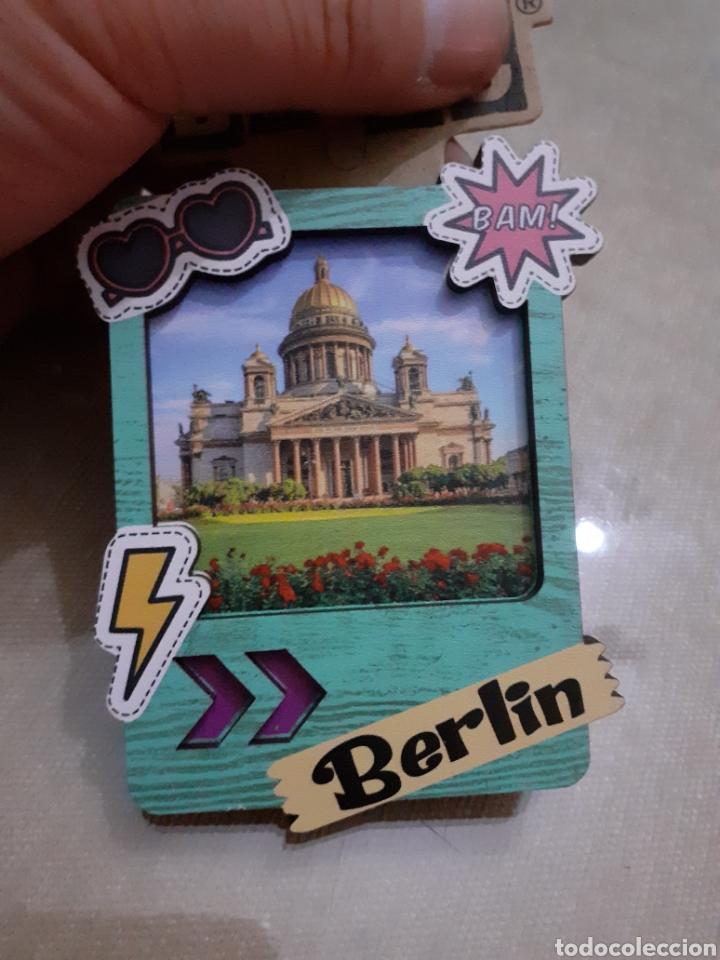 IMAN NEVERA BERLÍN ALEMANIA MADERA NUEVO (Coleccionismo - Varios)