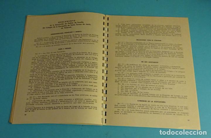 Coleccionismo: COLEGIO DE LA CÍA. SANTA TERESA DE JESÚS. TERESIANAS. VALENCIA CURSO 1974 - 75 - Foto 5 - 222568820