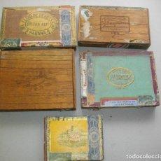 Coleccionismo: COLECCION CAJAS PUROS HABANOS CUBA (( 5 CAJAS ANTI )FLORINDA- MONTERO- FLOR PILOTOS-ETC. Lote 251662335