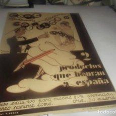 Colecionismo: RECORTE PUBLICIDAD AÑO 1931-BRANDY-COÑAC CABALLERO Y MANZANILLA MACARENA - L.RAMIREZ TOMÉ-MADRID. Lote 252308305