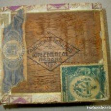 Coleccionismo: CAJA DE PUROS HABANOS CUBA LOPEZ DEL REAL ( MODERNISTA ) PRE / EMBARGO --VACIA / COLECC. Lote 252764345