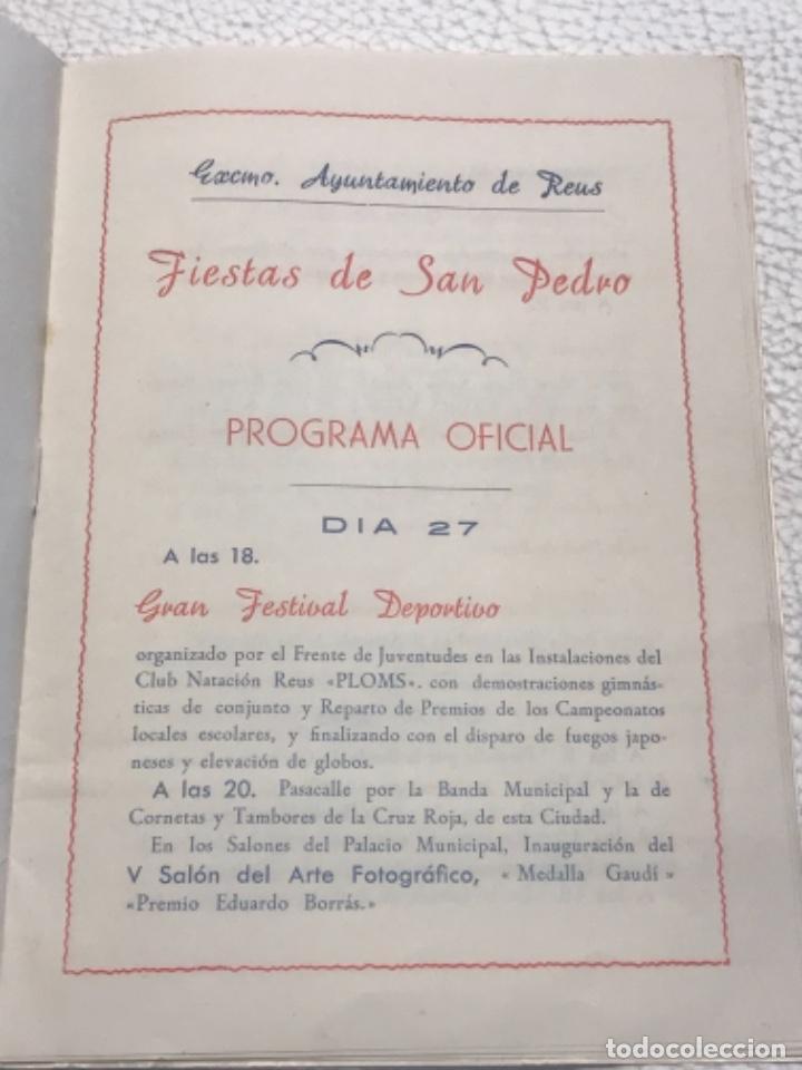 Coleccionismo: PROGRAMA DE LA FIESTA MAYOR DE REUS, TARRAGONA. 1952 - Foto 2 - 253148410