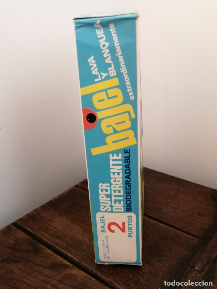 Coleccionismo: Caja de detergente BAJEL, Biodegradable. posible años 70. Sin abrir. Medidas:21x14,5x4,3cm. - Foto 5 - 253223705