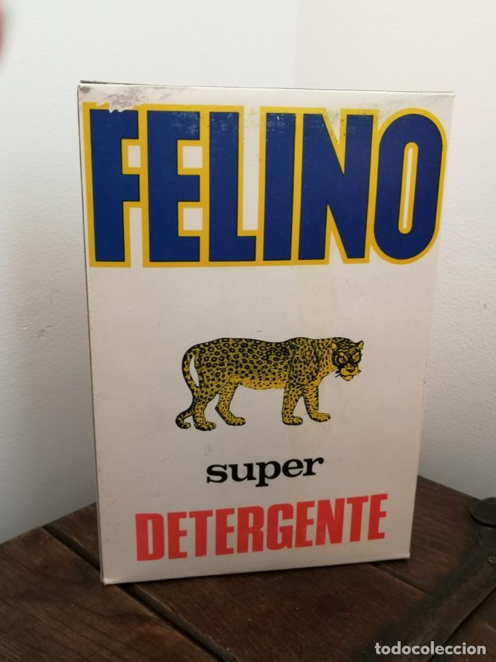 ANTIGUA CAJA SUPER DETERGENTE FELINO. SIN ABRIR. DESGASTE EN UN BORDE, VER FOTOS. 15,5X2,6X4,1CM. (Coleccionismo - Varios)