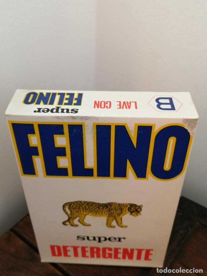 Coleccionismo: Antigua caja Super detergente FELINO. Sin abrir. Desgaste en un borde, ver fotos. 15,5x2,6x4,1cm. - Foto 2 - 253225160