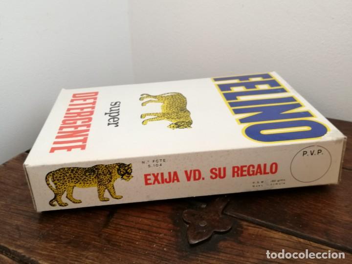 Coleccionismo: Antigua caja Super detergente FELINO. Sin abrir. Desgaste en un borde, ver fotos. 15,5x2,6x4,1cm. - Foto 4 - 253225160