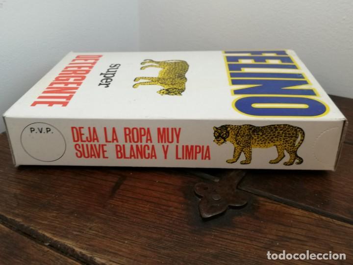 Coleccionismo: Antigua caja Super detergente FELINO. Sin abrir. Desgaste en un borde, ver fotos. 15,5x2,6x4,1cm. - Foto 5 - 253225160