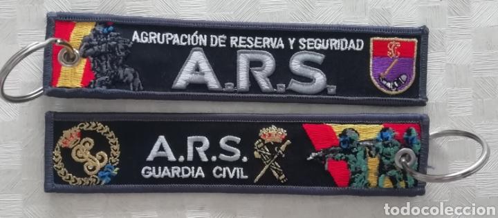 LLAVERO BORDADO A.R.S. AGRUPACIÓN DE RESERVA Y SEGURIDAD GUARDIA CIVIL DE ESPAÑA ARS NUEVO MODELO (Coleccionismo - Varios)
