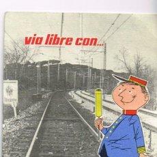 Coleccionismo: 1964 TARJETA PUBLICITARIA CONTROL PESO DE LAXANTE SALUD Y OTROS PREPARADOS DEL LABORATORIO SALUD. Lote 253469295