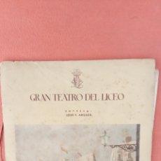 Collectionnisme: GRAN TEATRO DEL LICEO. JOSE F. ARQUER. TEMPORADA DE INVIERNO 1947-1948.. Lote 253475510