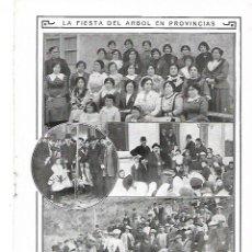 Coleccionismo: AÑO 1913 RECORTE PRENSA FIESTA DEL ARBOL EN MURCIA CORUÑA MUGARDOS ARES REQUENA. Lote 253967490