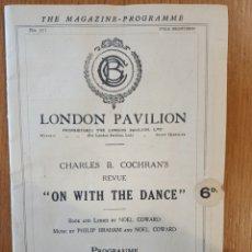 Coleccionismo: PROGRAMA MAGAZINE LONDON PAVILION, CHARLES B.COCHRAN'S AÑOS 50. 20 PAG. Lote 254073200