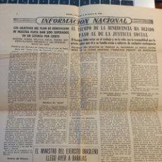 Coleccionismo: HOJA PERIÓDICO ARRIBA 6 FEBRERO 1966. INAUGURACIÓN MATERNIDAD BARCELONA,.... Lote 254076480