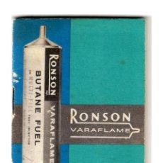 Coleccionismo: RONSON VARAFLAME - FOLLETO INFORMATIVO CARGAS DE GAS PARA MECHEROS - 77X55 MM.. Lote 254095095