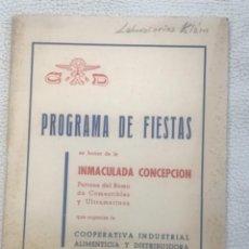Coleccionismo: PROGRAMA DE FIESTAS VILANOVA I LA GELTRU INMACULADA CONCEPCIÓN 1962.. Lote 254130815