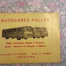 Collectionnisme: AUTECARES PALLÁS. IGUALADA.. Lote 254174795