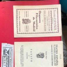 Coleccionismo: PROGRAMAS DE MANO DEL TEATRO ESPANOL. Lote 254265635