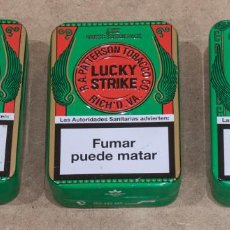 Coleccionismo: LOTE 3 CAJAS METALICAS DE LUCKY STRIKE LIMITED EDITION PACK.. Lote 254296890