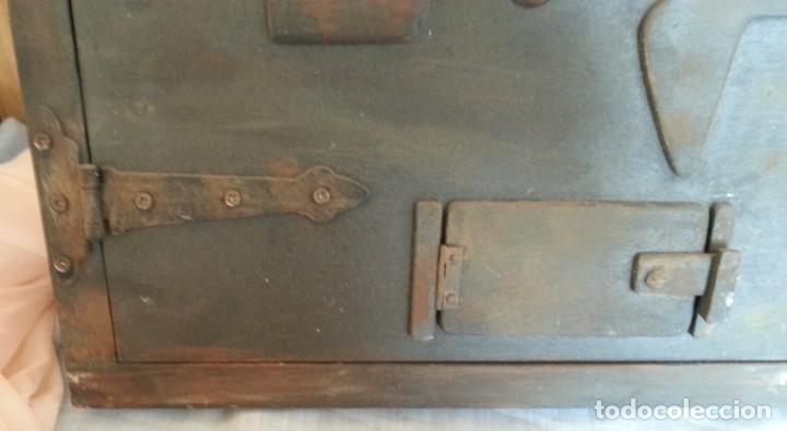Coleccionismo: Puerta de Horno en madera. Objeto ficticio. - Foto 2 - 254364110