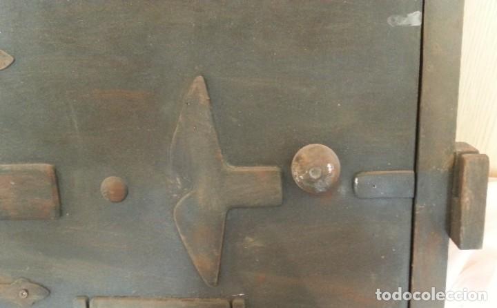 Coleccionismo: Puerta de Horno en madera. Objeto ficticio. - Foto 3 - 254364110