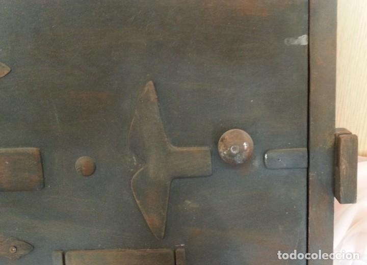 Coleccionismo: Puerta de Horno en madera. Objeto ficticio. - Foto 5 - 254364110