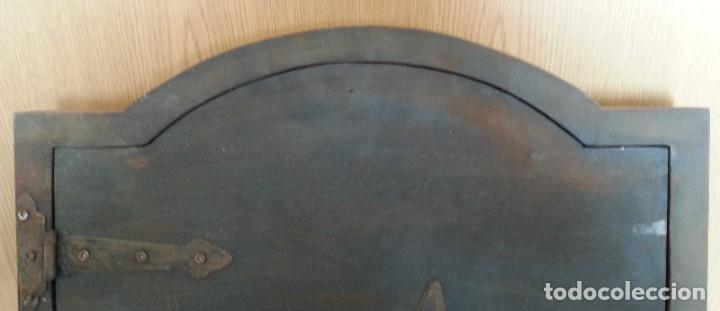 Coleccionismo: Puerta de Horno en madera. Objeto ficticio. - Foto 6 - 254364110