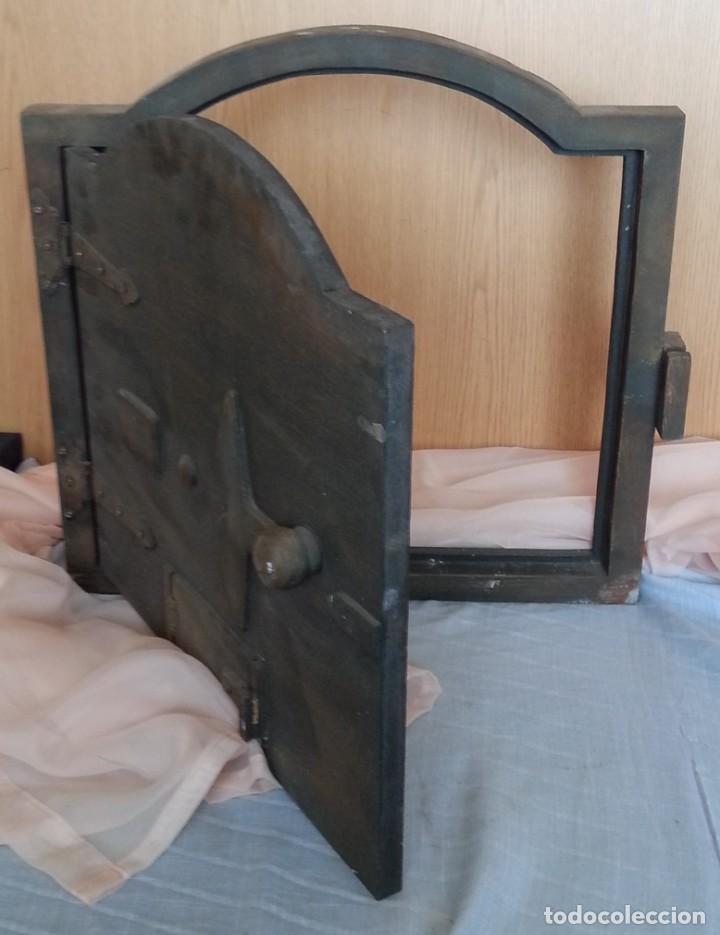 Coleccionismo: Puerta de Horno en madera. Objeto ficticio. - Foto 7 - 254364110