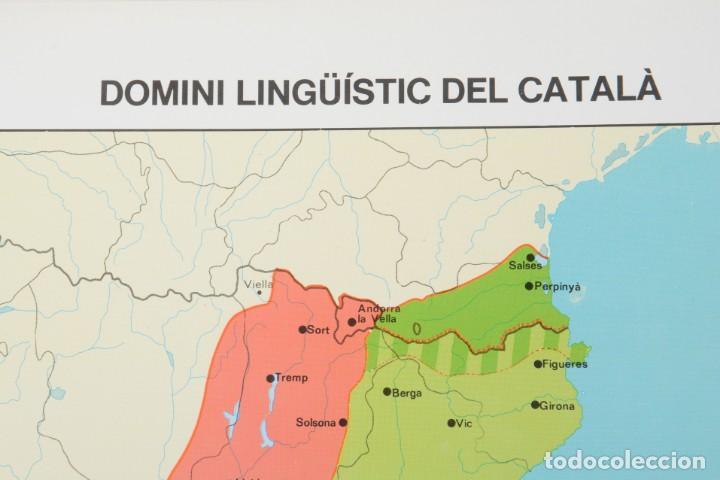Coleccionismo: Lámina de mapa Domini linguüístic del catalá - Foto 2 - 254522155