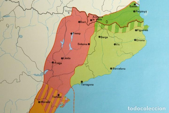 Coleccionismo: Lámina de mapa Domini linguüístic del catalá - Foto 3 - 254522155