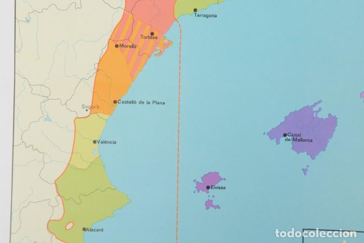 Coleccionismo: Lámina de mapa Domini linguüístic del catalá - Foto 4 - 254522155